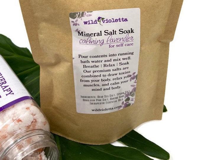 Lavender Mineral Bath Salts, Detox Bath Salts