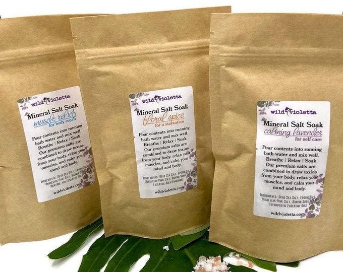Home Spa Bath Salts / Healing Detox Mineral Bath Salts