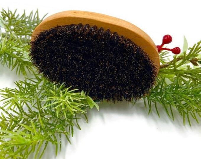 Beard Brush, Stocking Stuffer Men's Hair and Beard Brush