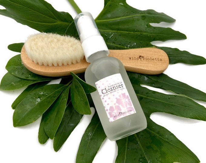Gentle Face Brush and Botanical Face Wash / Cleansing Face Set for Women / Natural Skin Care