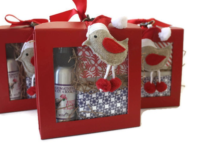 Christmas Gift Box Soap Bars and Room Spray, Coworker Gift