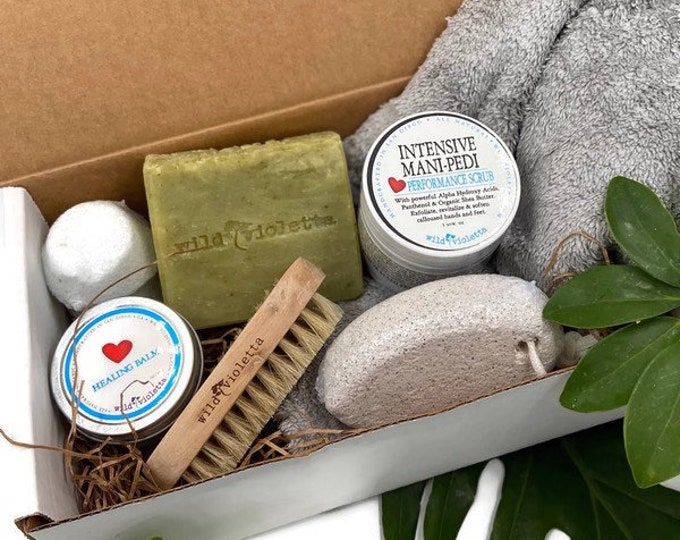 Deluxe Home Spa Pedicure Kit, DIY Complete Mani Pedi Self Care Gift Ships Priority Mail