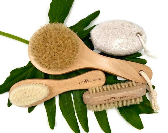 Dry Body Brush Value Gift Set, Self Care Package