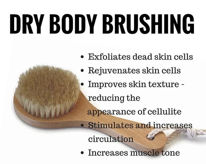 Dry Body Brush, Detox Vegan Dry Body Brushing, Eco Friendly Sustainable Plastic Free Brush