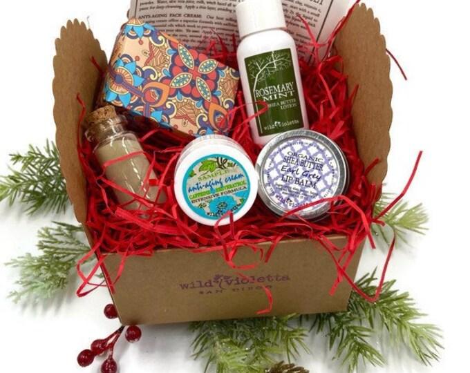 Christmas Gift for Her, Self Care Spa Kit Sample Set