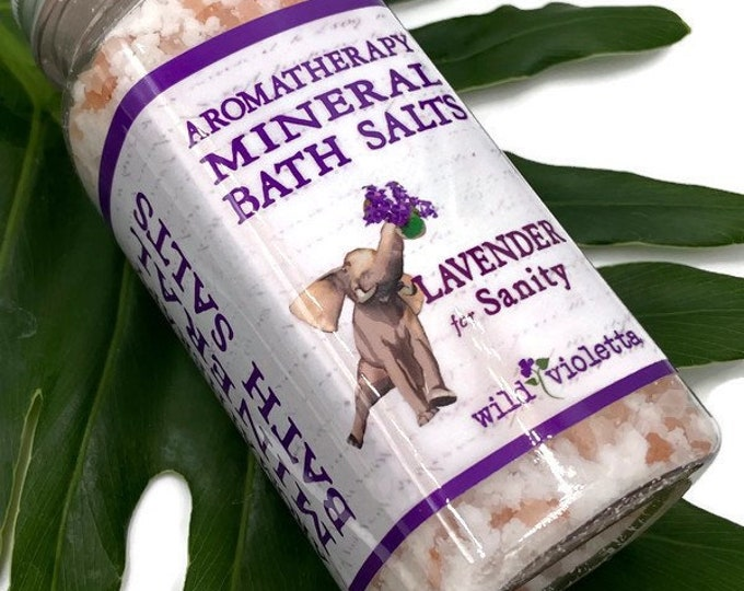 Relaxing Lavender Bath Salts / Calming Lavender Bath Soak Stocking Stuffer