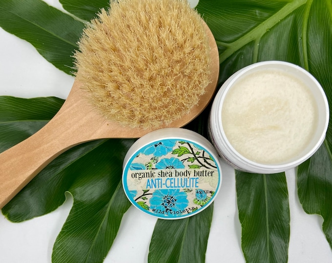 Anti Cellulite Cream And Dry Body Brush