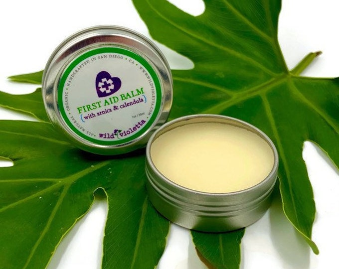 First Aid Pain Relief Balm / Arnica, Calendula, Essential Oils Organic Healing Balm
