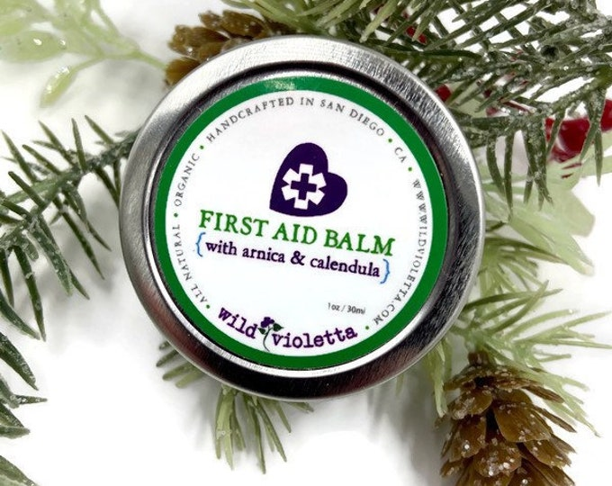 Stocking Stuffer First Aid Pain Relief Balm / Arnica, Calendula, Essential Oils Organic Healing Balm