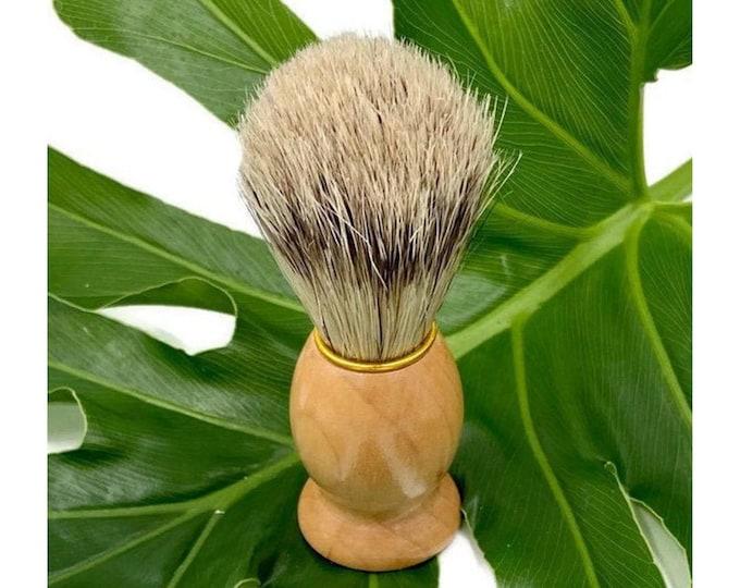 Men's Wet Shave Brush / All Natural Shaving Brush Gift for Men