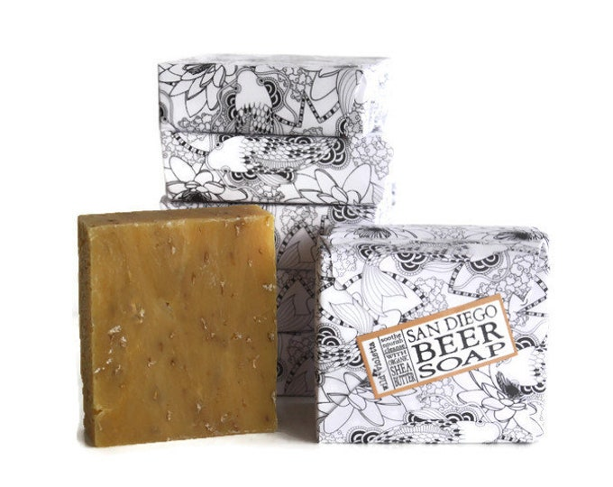 Beer Soap for Him / Handcrafted Natural Soap Bar / Hops Beer Soap for Men