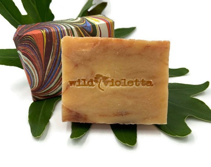 Handcrafted Natural Soap / Fresh Scent Citrus and Sage Soap Bar