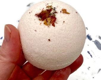 Christmas Stocking Stuffer / Customer Favorite Rose Bath Bomb, Self Care Bath Gift for Mom, Large Bath Bomb Gift