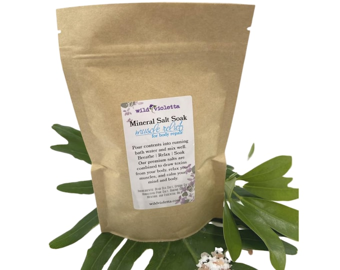 Stocking Stuffer for Men / Muscle Relief Bath Salts / Healing Detox Bath Salts / Gift for Him