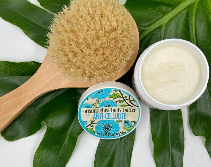 Anti Cellulite Cream And Dry Body Brush, Smoothing Body Butter for Women