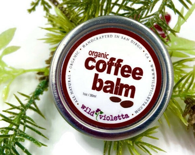 Coffee Hand Balm Stocking Stuffer / Organic Coffee Infused Healing Balm / Coffee Lovers Brew Scent