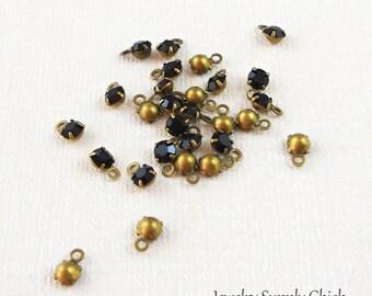 176bb4613 Jet black crystal 4mm drop (x12)