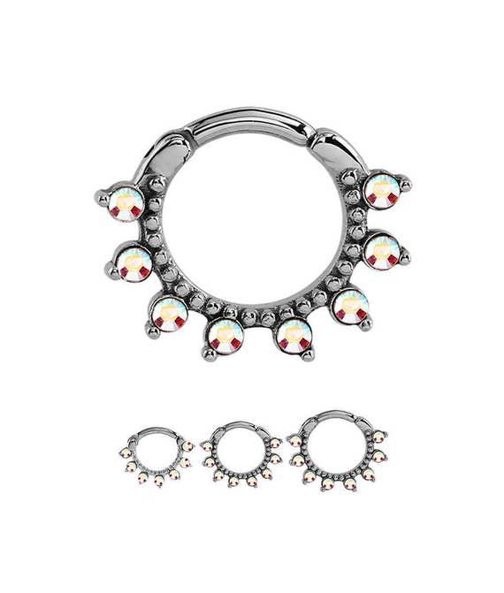 316l Surgical Steel Septum Clicker Cartilage Helix Nose Ring Hoop