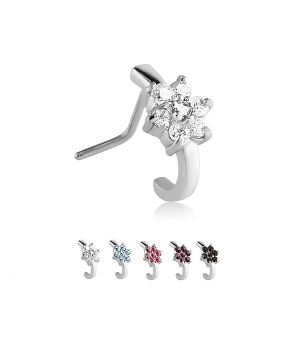Dynamique Dia-cut Heart CZ 316L Surgical Steel Belly Button Ring