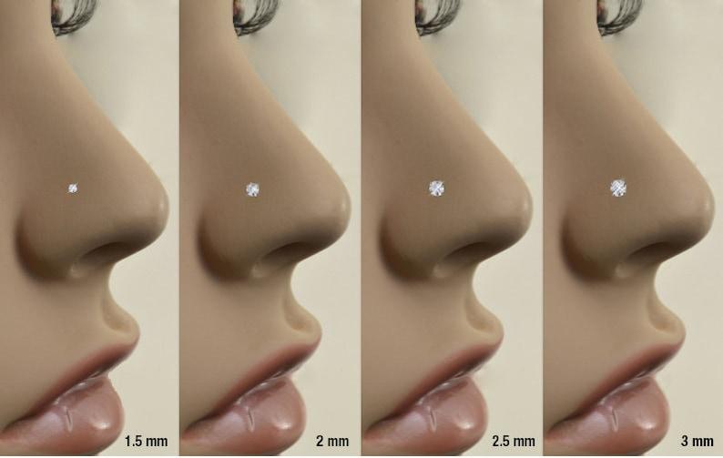 5mm 6mm 7mm 8mm 9mm 10mm Posts 20G 18G 16G Rose Gold Plated Labret Nose Ring Monroe Stud Threadless Push Pin 1.5mm CZ 316 Stainless Steel