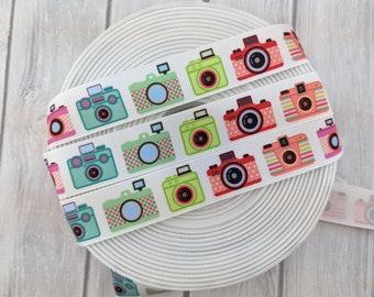 birthday gift for sister Camera Printed Grosgrain Ribbon