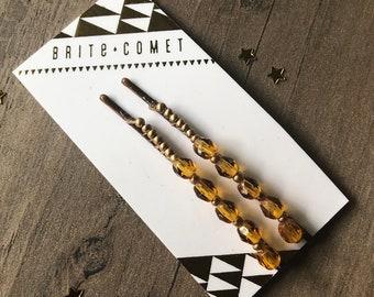 Gift for Teens Girls Women Carnelian Pins Peridot Stone Beads Baby Pins Autum Set of Pins Gem Hair Jewelry Amber Bobby Pins