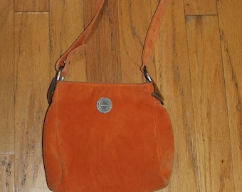 Vintage Lagerfeld Orange Suede Bag