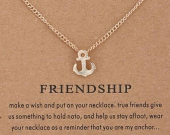 Brand anchor pendant friendship necklace
