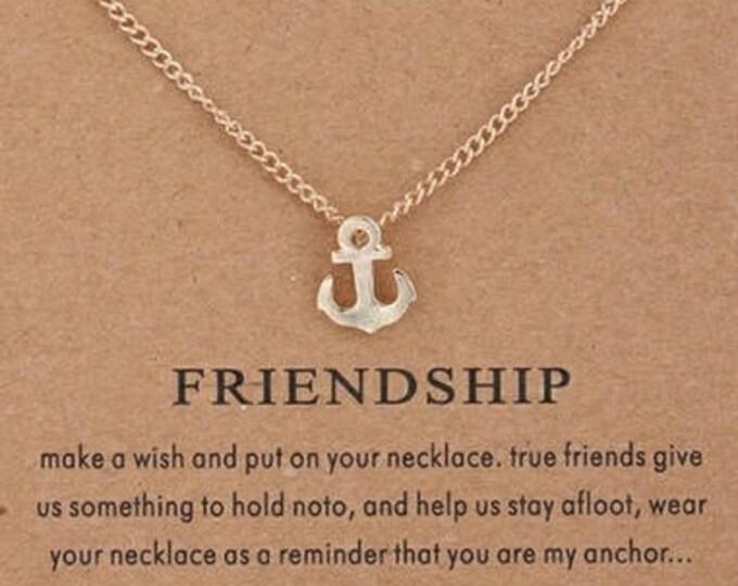 Brand anchor pendant friendship necklace