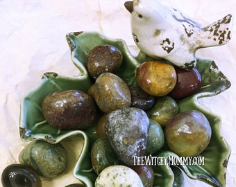 Tumbled JASPER CRYSTAL - Natural Gemstone - Meditation, Crystal Grids, Magick