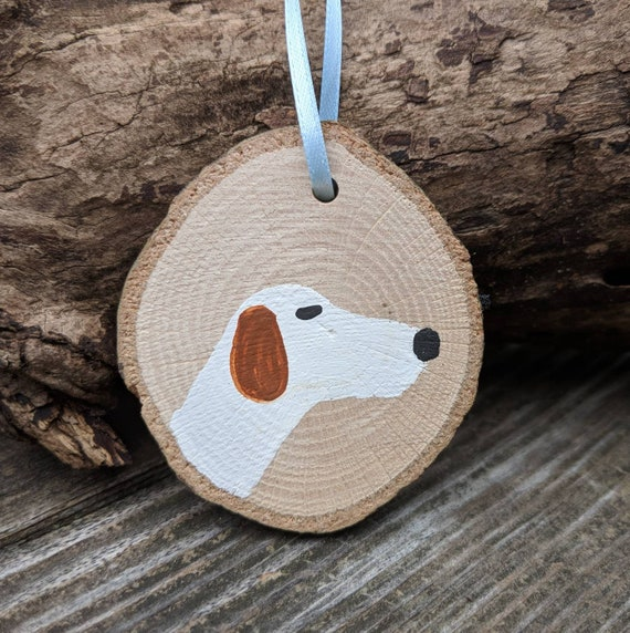 NUMBER PERFECT GIFT BASSET HOUND LOG SLICE HOUSE SIGN HOUSE NAME