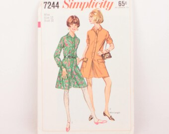 1960s Simplicity 7244 // step-in pantdress