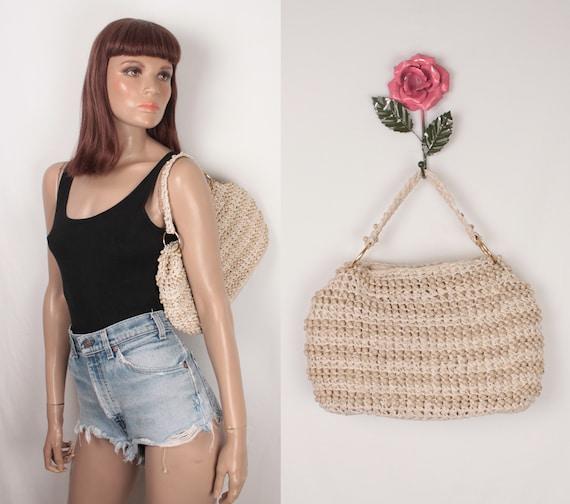 60s beaded crochet straw bag // Simon by Mister Er