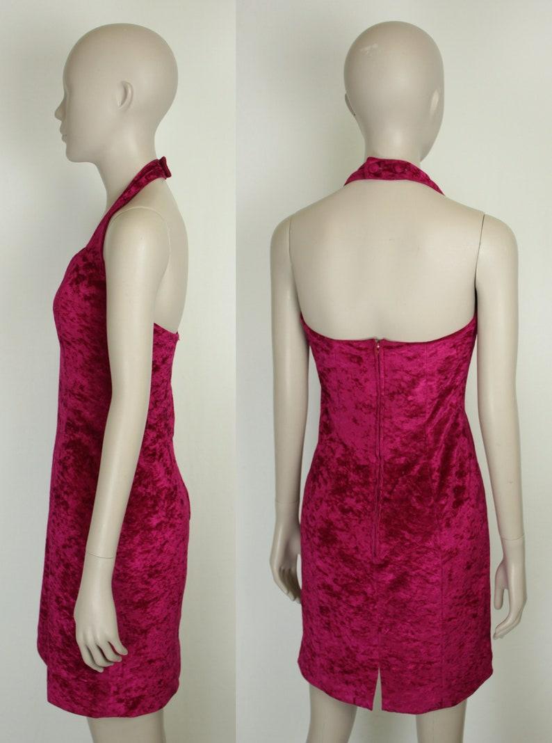 crushed velvet halter dress  sweetheart neckline