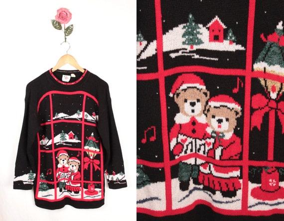 ugly christmas sweater // teddy bears