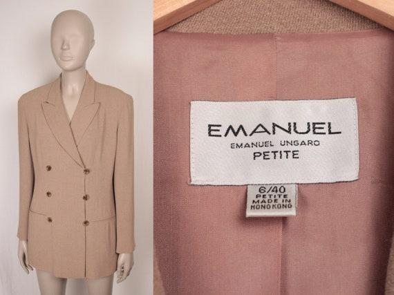 80s 90s oversize blazer // Emanuel Ungaro // doubl