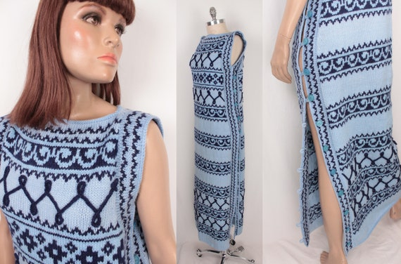knit sweater dress // side button