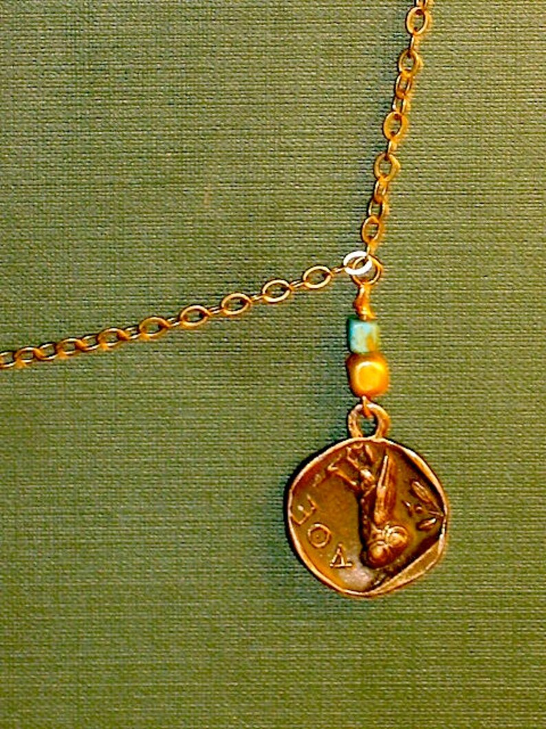 Athenian Coin: Brass Chain Necklace image 1