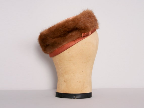 1960s Fur Pillbox Hat Vintage