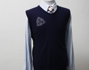 3ba0358c86fb3 Sweater Vest with Screen Printed Celtic Knot Men s Size 44