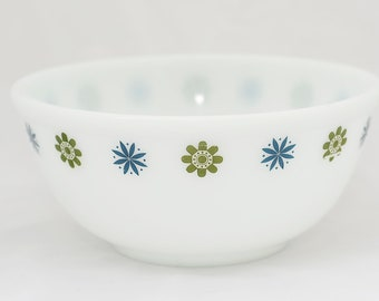 Phoenix Opalware Mixing Bowl with a Blue and Green Pattern