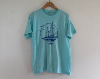 Vintage 80's Florida Sailboat Souvenir T-Shirt M