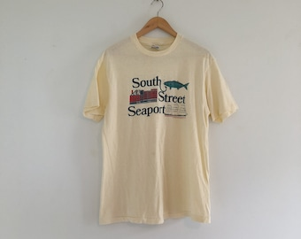 Vintage 80's South Street Seaport NYC T-Shirt M