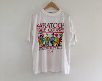 Vintage 90's Saratoga Race Course T-Shirt XL