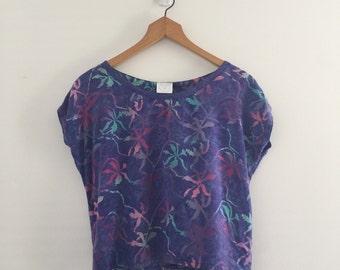 bf2533d3f42ea Vintage Ultraviolet Purple Batik Crop Top S