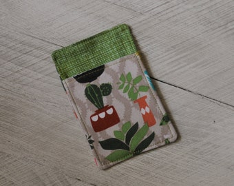 Cacti and Succulents Front Pocket Credit Card Wallet