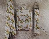 Star Wars Inspired Lanyard ID Holder Annual Pass Holder Pocket Wallet The Child, Baby Yoda Doodles