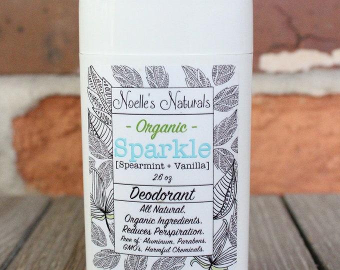 Organic Deodorant - Aluminum Free, non-GMO, non-toxic, organic ingredients, Actually WORKS! - Spearmint + Vanilla