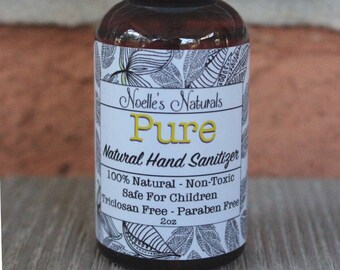 Natural Hand Sanitizer Spray w/ Colloidal Silver -Triclosan Free- Low Alcohol Content -Won't Irritate Skin- Kills Bacteria- Lemon + Lavender