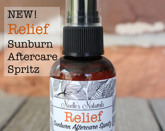 Relief Sunburn After sun Spray, Apple Cider Vinegar, Organic Ingredients, 100% Natural, Soothes Irritated Skin, Balances pH, Reduces peeling